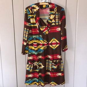 AMAZING and COMFORTABLE Tribal print Dress